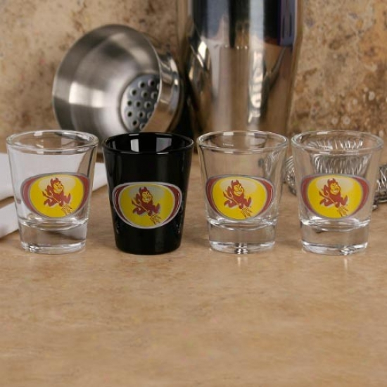 Arlzona State Sun Devils 4-pack Vortex Shot Glass Set