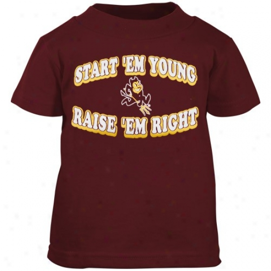 Arizona State Sun Devils Apparel: Arizona State Sun Devils Maroon Infant Start 'em Young T-shirt