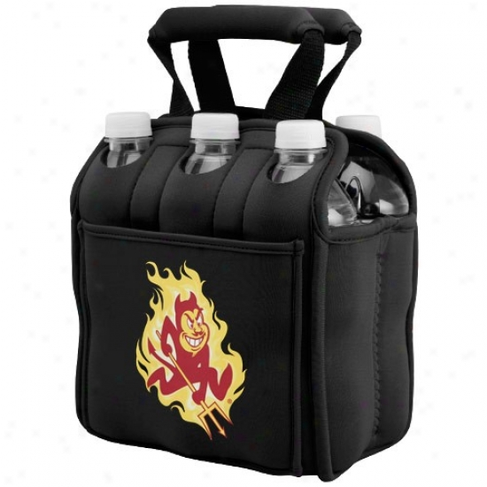 Arizona State Sun Devils Black 6-pack Nroprene Cooler