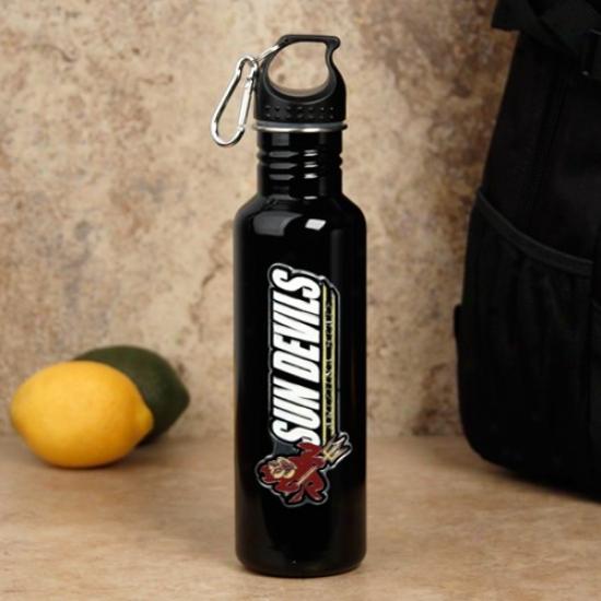 Arizona State Sun Devils Black Spotless Steel Water Bottle