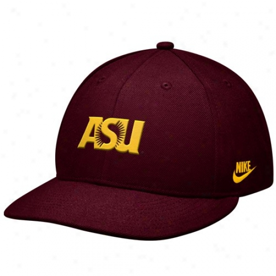 Arizona State Day-star Devils Hat : Nike Arizona State Sun Devils Maroon College Leap Fitted Cardinal's office