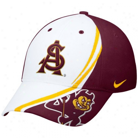 Arizona State Sun Devils Hat : Nike Arizona State Sun Devils Maroon Conference Red Zonee Flex Fit Hat
