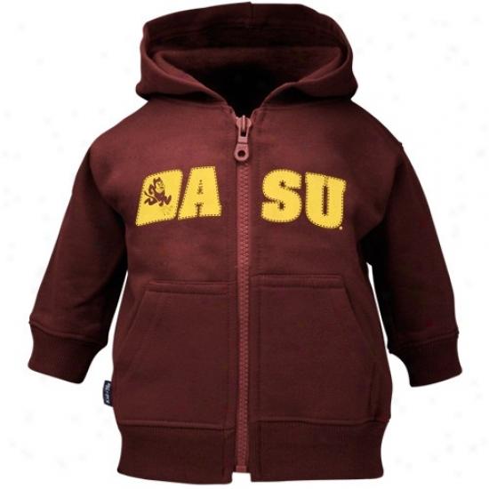 Arizona State Sun Devils Sweatshirt : Arizona State Sun Devils Toddler Maroon Full Zip Sweatshidt Sweatshirt