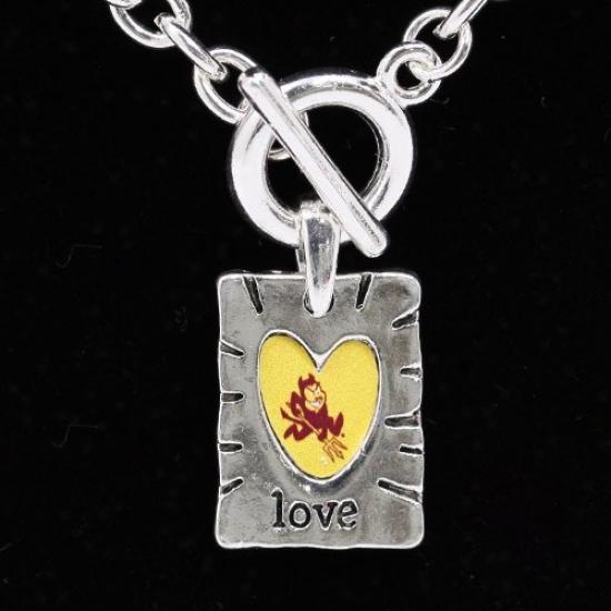 Arizona State Sun Devils Team Color Love Necklace