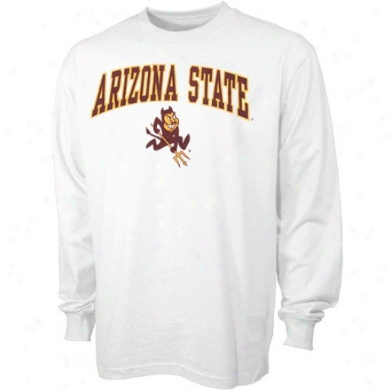 Arizona State Sun Devils Tshirt : Arizona State Sun Devils Youth Pale Bare Essentials Long Sleeve Tshirt