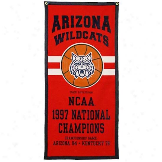 Arizona Wildcats 19977 National Basketball Champions Banner