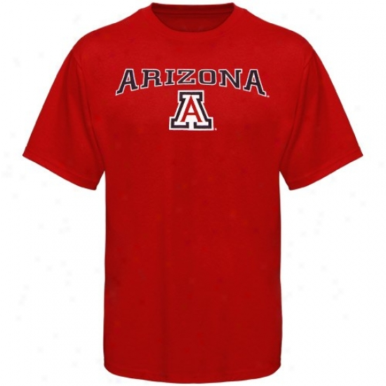 Arizona Wildcats Attire: Arizona Wildcats Youth Cardinal Arched Logo T-shrt