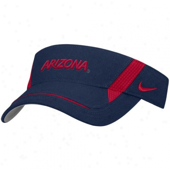 Arizona Wildcats Caps : Nike Arizona Wildcats Navy Blue Team Visor