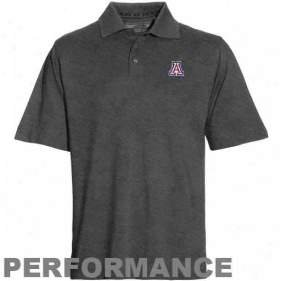 Arizona Wildcats Clothes: Cutter & Buck Arizona Wildcats Charcoal Drytec Championship Performance Polo