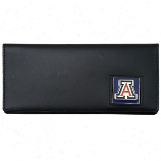 Arizona Wildcars Executive Black Leather Checkbook Cover