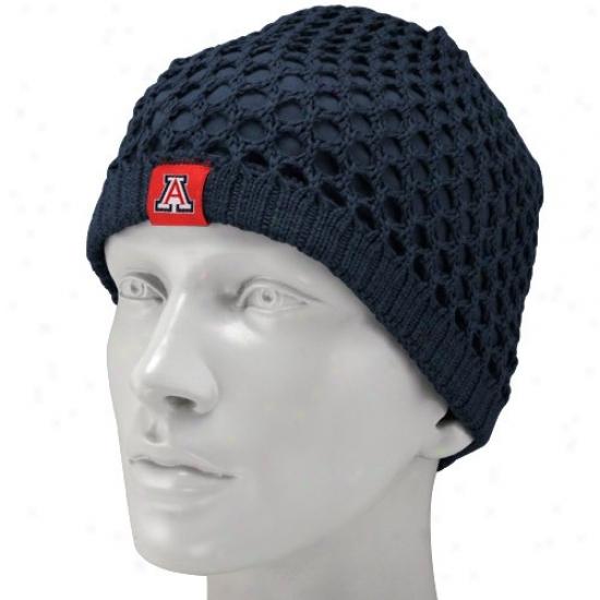 Arizona Wildcats Hat : Nike Arizona Wildcats Ladies Navy Blue Sweater Knit Beanie