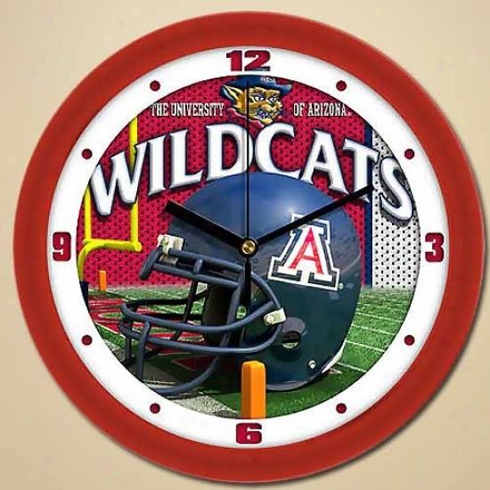 Arizona Wildcats Helmet Wall Clock