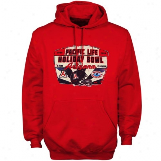 Arizona Wildcats Hoodies : Arizona Wildcats Red 2009 Hpliday Bowl Bound Hoodies