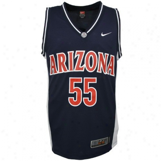 Arizona Wildcats Jerseys : Nike Elite Arizona Wildcats #55 Navy Blue Youth Replica Basketball Jerseys