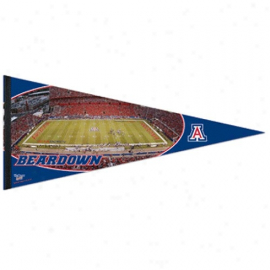 Arizona Wildcats Navy Blue 17'' X 40'' Stadium Felt Pennant