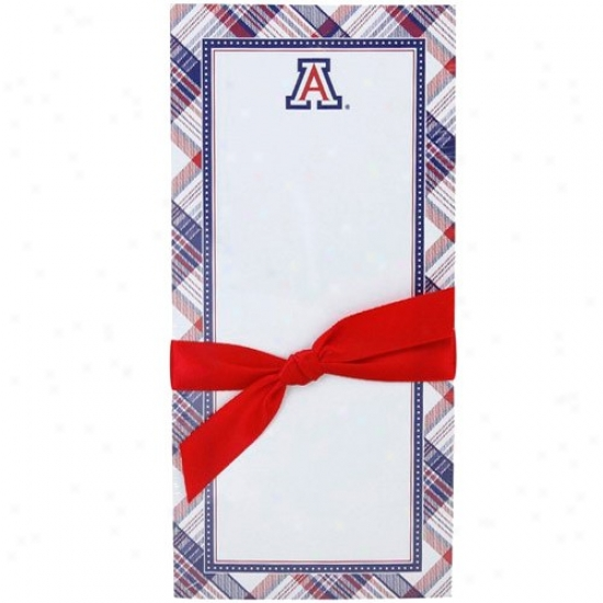 Arizona Wildcats Plaid Magnetic Notepad