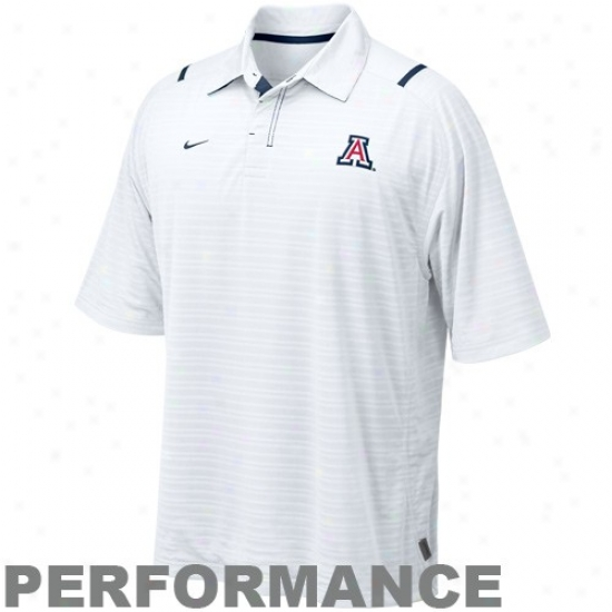 Arizona Wildcats Polo : Nike Arizona Wildcats Pale Striped Conference Performance Polo