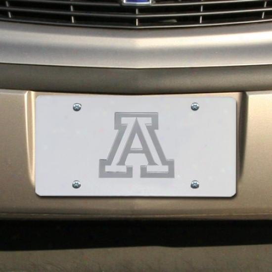 Arizona Wildcats Satin MirroredT eam Logo License Plate
