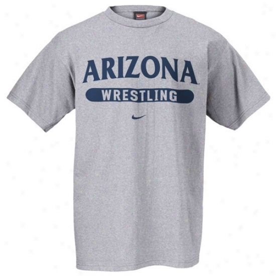 Arizona Wildcats Syirt : Nike Arizona Wildcaats Ash Wrestling Shirt