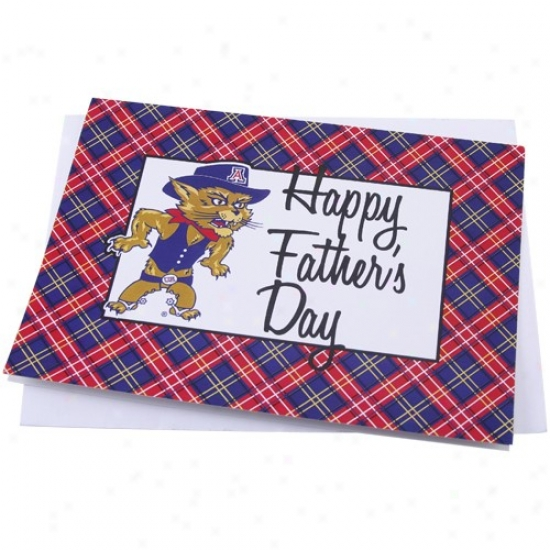 Arizona Wildcats Team Mascot Father' sDay Card