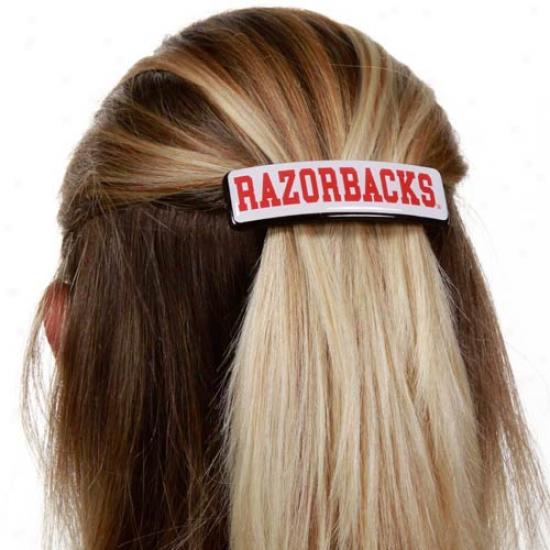 Arkansas Razorbacks 1'' Rectangle Barrette
