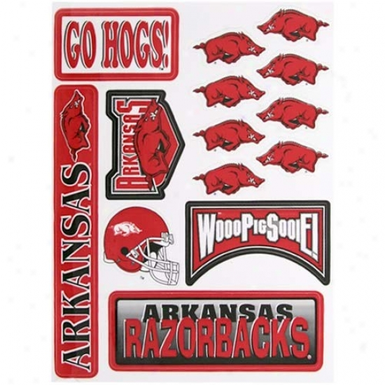 Arkansas Razorbacks 14-count Team Vinyl Stickers