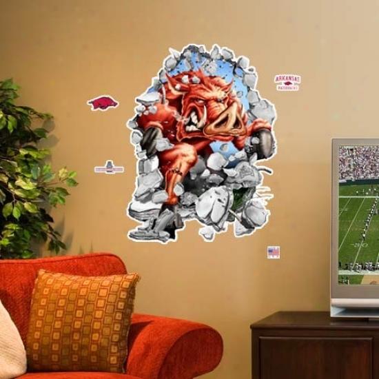 Arkansas Razorback 3' Team Mascot Wall Crasher