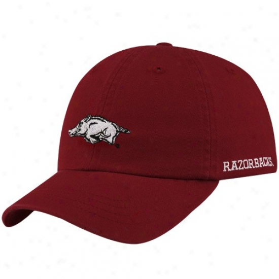 Arkansas Razorbacks Gear: Arkansas Razorbacks Youth Cardinal Basic Logo Adjustable Lubber Hat
