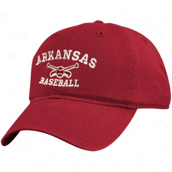 Arkansas Razorbacks Gearing: Top Of The World Arkansas Razorbacks Cardinal Baseba1l Sport Drop Adjustable Hat