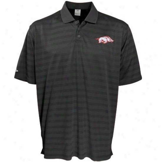 Arkansas Razorbacks Golf Shirt : Adidas Arkansas Razorbacks Black Team Logo Golf Shirt