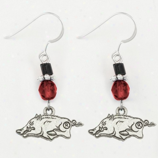 Arkansas Razorbacks Ladies Charm Earrings