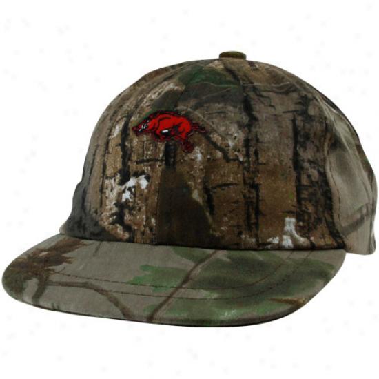 Arkansas Razorbacks Merchandise: Arkansas Razorbacks Toddler Realtree Camo Ball Cap