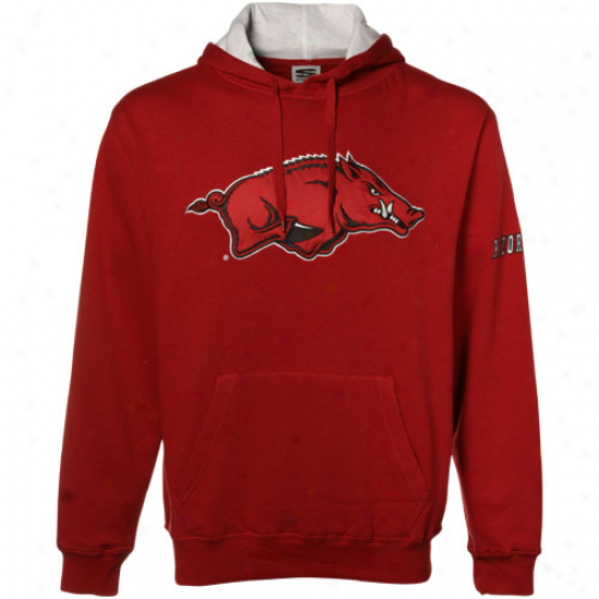 Arkansas Razorbacks Stuff: Arkansas Razorbacks Cardinal Classic Twill Hoody Sweatshirt