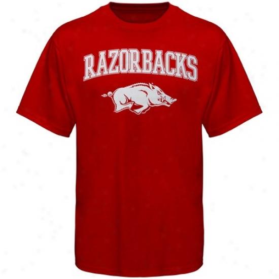Arkansas Razorbacks Tees : Arkansas Razorbacks Cardinal Universal Mascot Tees
