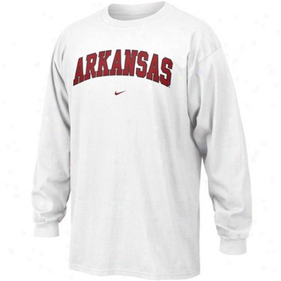 Arkansas Razorbacks Tshirt : Nike Arkansas Razorbacks Pale College Classic Long Sleeve Tshirt