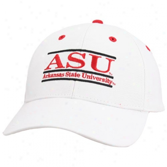 Arkansas State Red Wolves Hat : The Game Arkansas Stat Red Wolves White 3d Bar Adjustable Hat