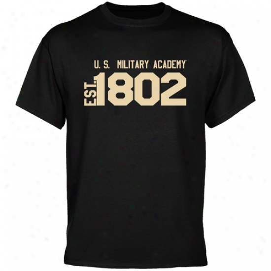 Army Black Knights Apparel: Army Black Knights Black Est. Date T-shirt
