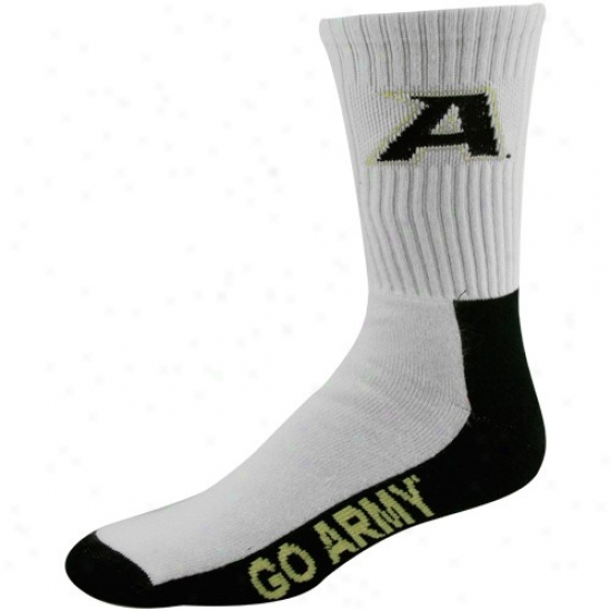 Army Wicked Knights  Black-white Team Logo Crew Socks