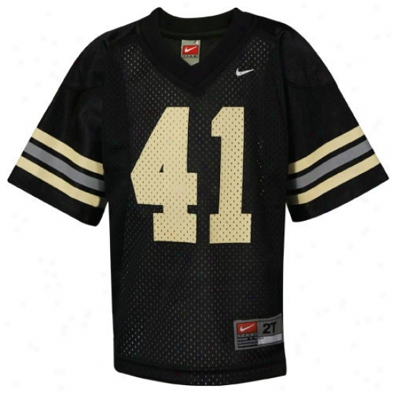 Army Black Knights Jersey : NikeA rmy Black Knights  #41 Preschool Black Autograph copy Football Jersey