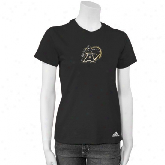Army Black Knights Tshirts : Adidas Army Black Knights Ladies Black Loud N' Proud Tshirts