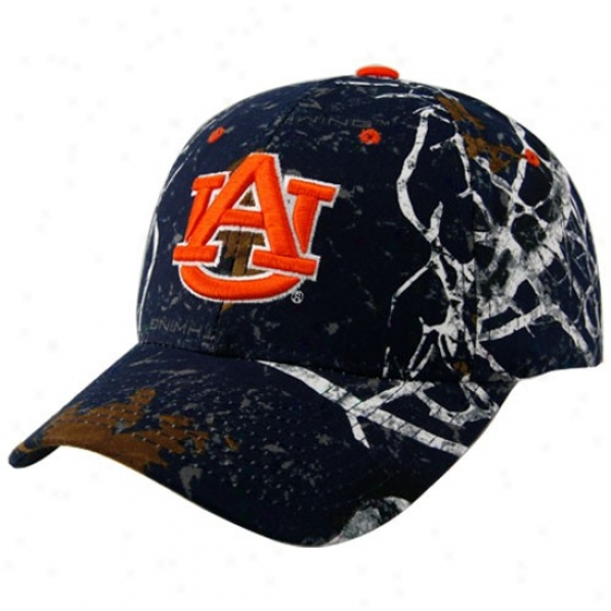 Auburn Cap : Zephyr Auburn Ships Blue Graphic Big Game Adjustable Cap