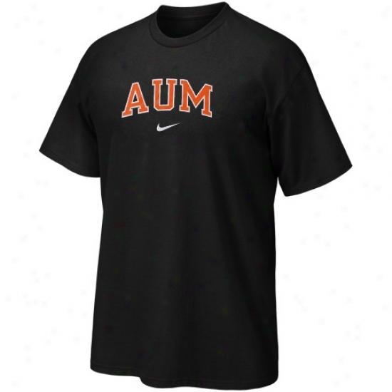 Auburn Motngomery Senators Tshirts : Nike Auburn Montgomery Senatofs Black Vertical Arch Tshirts