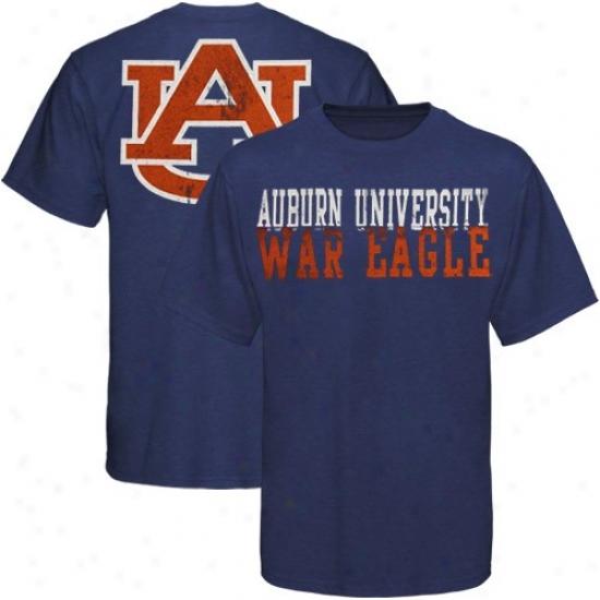 Auburn Shirt : My U Auburn Heather Ships of war Blue Literality Shirt