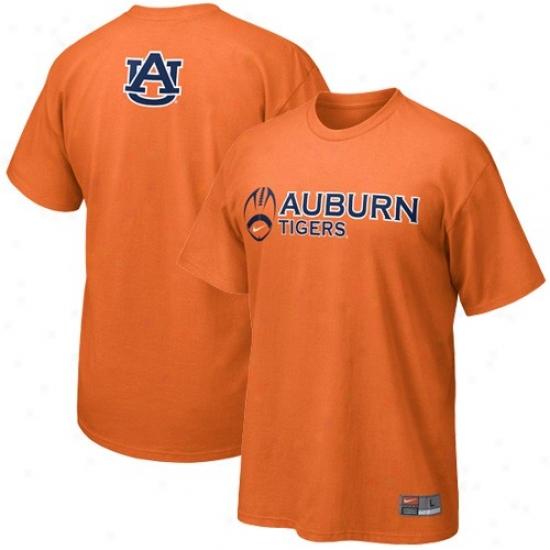 Auburn Shirt : Nike Auburn Orange Practice Shirt