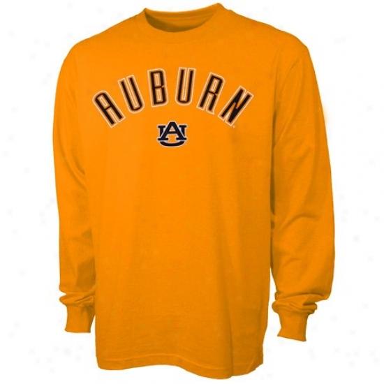 Auburn Tees : Auburn Orange Youth Big Hits Long Sleeve Tees