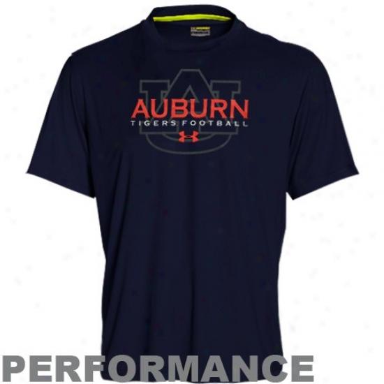 Auburn Tiger Apparel: Under Armour Auburn Tiger Navy Blue Catalyst Performance T-shirt