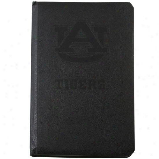 Auburn Tigers Black Leather Deluxe Journal