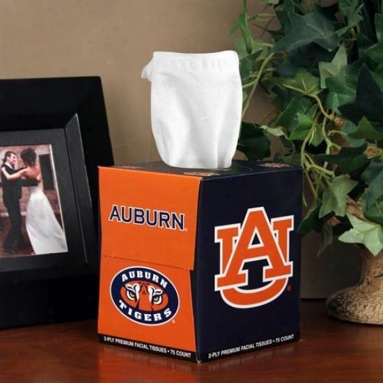 Auburn Tigers Box Of Sports Tissues