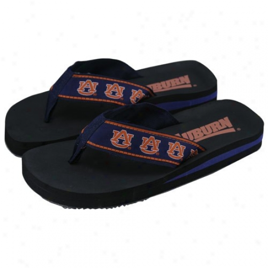 Auburn Tigers Ladies Flip Flops