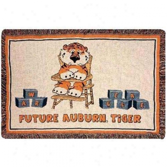 Auburn Tigers Mini Woven Blanket Throw
